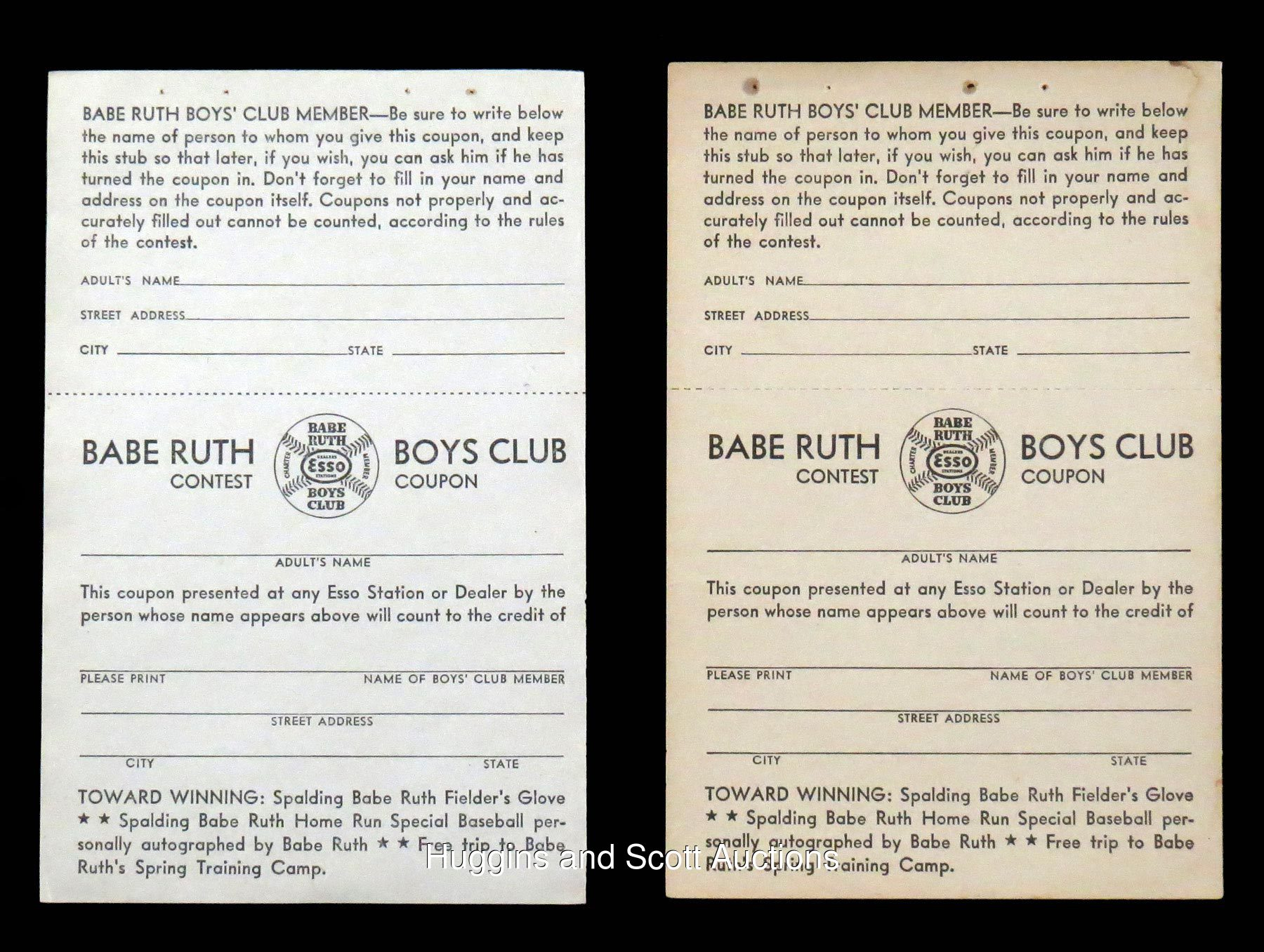 babe ruth 1937 sinclair babe ruth baseball contest ball pictures click on photo to enlarge