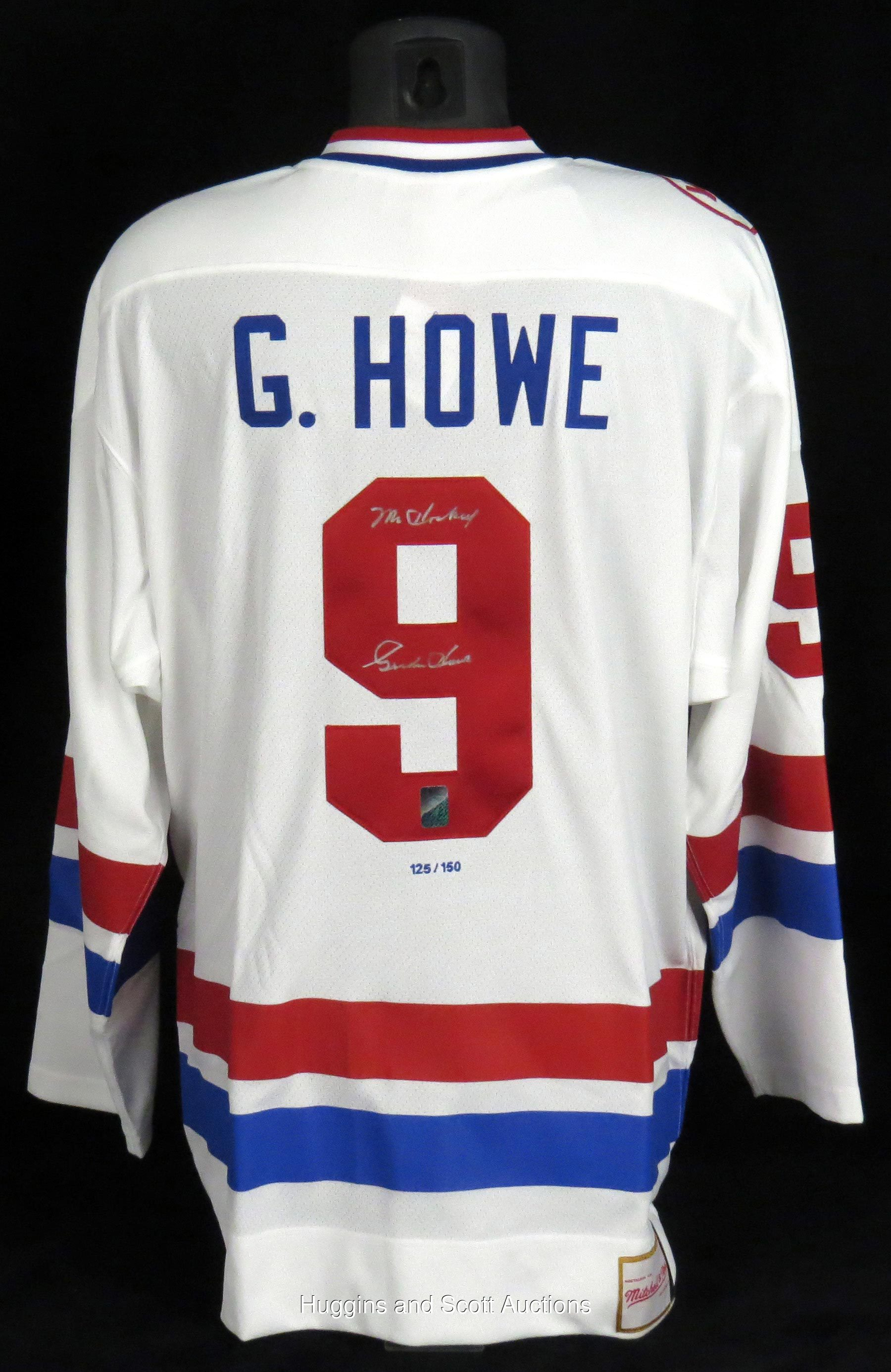 """official photos 63649 6b3d7 Gordie Howe Signed LE """"1979 WHA All-Star Game"""" Jersey with ..."""